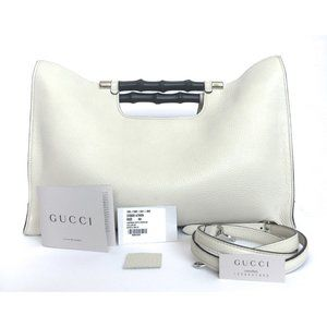 Gucci Cellarius Bamboo Daily 2-way Handbag In Myst